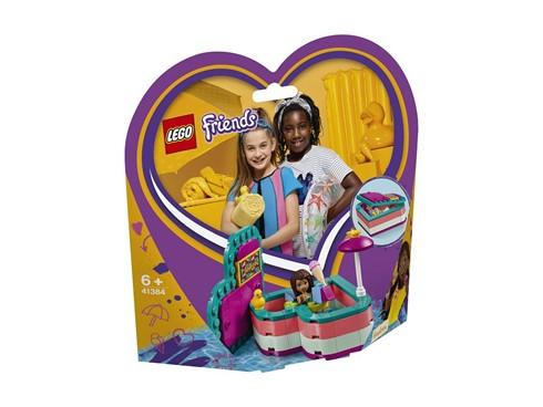 41384 - LEGO® Friends - Andreas sommerliche Herzbox:   Die Sonne scheint und Andrea möchte sich im Pool entspannen. Das LEGO®Frien