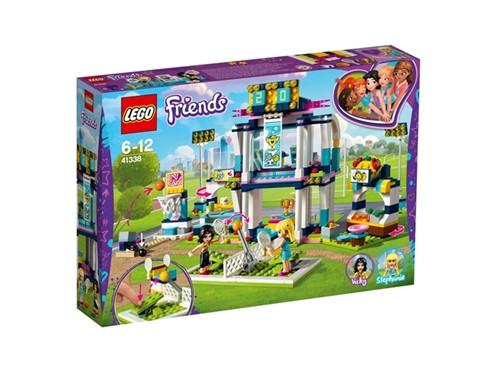 41338 LEGO® Friends Stephanies Sportstadion:   Triff dich mit Stephanie zum Sport. Geh durch den Haupteingang in den Basket