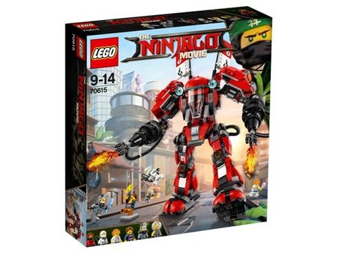 70615 LEGO® NINJAGO Kai's Feuer-Mech*:   Schick den legendären Feuer-Mech los, um die Haimonster zu verscheuchen! Der