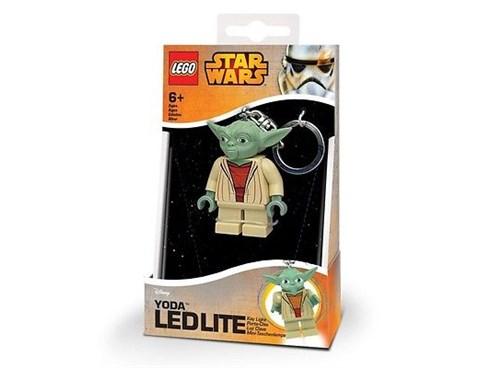 Lampe LEGO® Taschenlampe LEGO Star Wars Yoda Minitaschenlampe:   LEGO Star Wars - Yoda Minitaschenlampe und Schlüsselanhänger. Die Arme und B