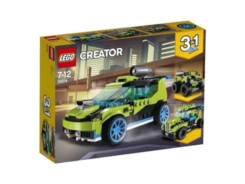 31074 LEGO® Creator Raketen-Rallyeflitzer:   Donnere mit diesem megastarken Raketen-Rallyeflitzer durch Wälder und über W