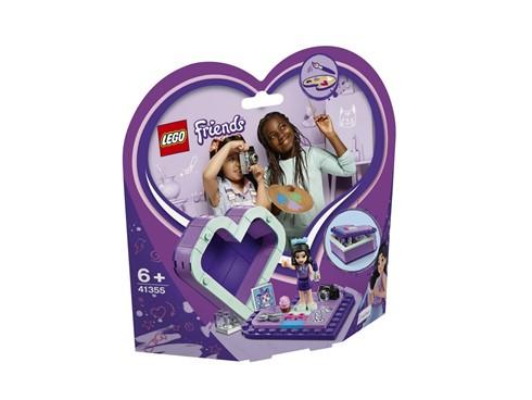 41355 LEGO® Friends Emmas Herzbox:   Emma findet überall Inspirationen. Nimm sie in ihrer Herzbox mit auf Reisen,