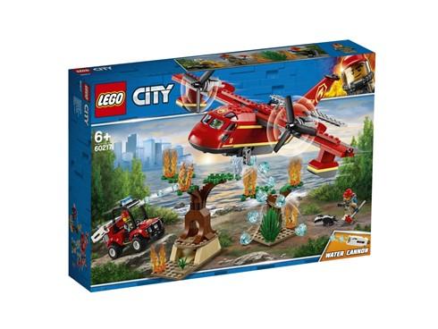 60217 LEGO® City Löschflugzeug der Feuerwehr:   Komm zur LEGO®City Feuerwehr und hilf, die Waldtiere zu schützen! In dem na