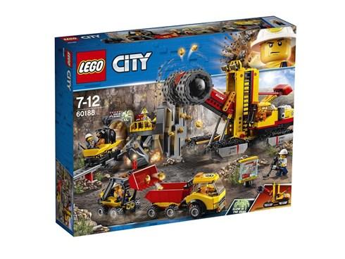 60188 LEGO® City Bergbauprofis an der Abbaustätte:   Steig in die Fahrerkabine des riesigen Zerkleinerers und leg los! Bewege den