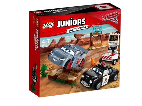 10742 LEGO® Juniors Rasante Trainingsrunden in der Teufelssc:   Erreiche mit Disney•Pixars Lightning McQueen beim Training in Willy's Butte