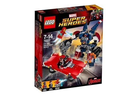76077 LEGO® Marvel Super Heroes™ Iron Man gegen Detroit Steel*:   Vorsicht! Justin Hammer ist in Detroit Steel (seinem fliegenden Mech) Agent