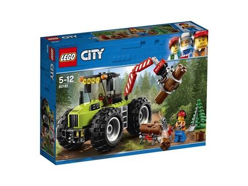 60181 LEGO® City Forsttraktor:   Setz deinen Helm auf und fahr in den Wald! Steig in die Kabine deines Forstt