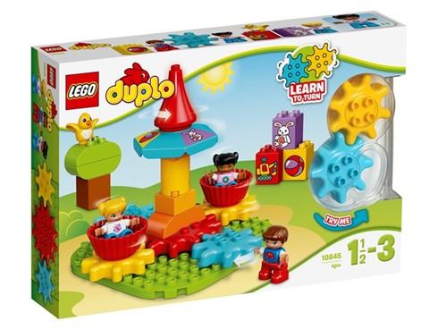 10845 LEGO® DUPLO® Mein erstes Karussell:   Aus den großen LEGO® DUPLO® Steinen lässt sich ein drehendes Karussell bauen