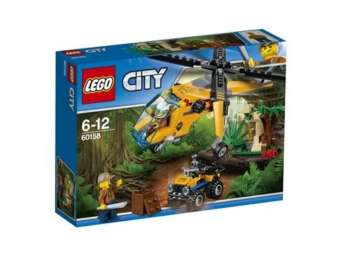 60158 LEGO® City Lego City Dschungel-Frachthubschrauber*:   Flieg mit dem Dschungel-Frachthubschrauber tief in den LEGO® City Dschungel.