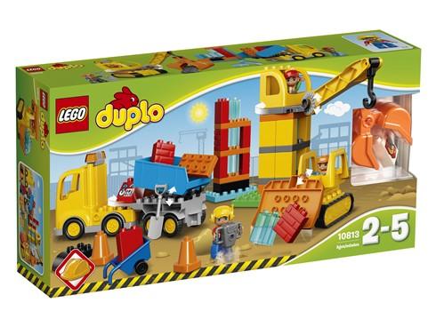 10813 LEGO® DUPLO® Große Baustelle:   Kleine Bauarbeiter werden diese 3 Baumaschinen zum Zusammenbauen lieben. Ebn