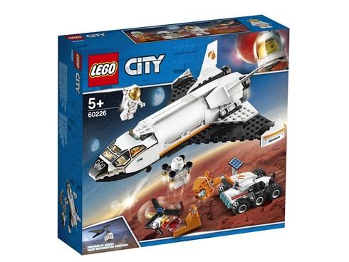 60226 - LEGO® City - Mars-Forschungsshuttle:   Dieses von der NASA inspirierte Spielset mit einem Forschungsshuttle und ein