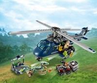 75928 LEGO® Jurassic World™ Blue's Hubschrauber-Verfolgungsjagd:   Lass nicht zu, dass Owen von seinem treuen Freund, dem Velociraptor Blue, ge