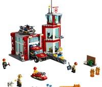 60215 LEGO® City Feuerwehr-Station:   Entspanne dich mit deinen Kameraden von der Feuerwehr-Station! Genieße eine
