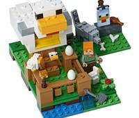21140 LEGO® Minecraft™ Hühnerstall:   Baue einen tollen LEGO® Minecraft™ Hühnerstall mit Flagge, ein Gehege mit Pf