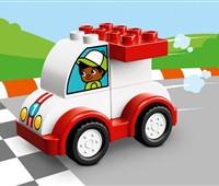 """10860 LEGO® DUPLO® Mein erstes Rennauto:   Kleine Rennfahrer haben Runde für Runde Spaß mit dem Set """"Mein erstes Rennau"""