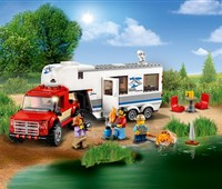 60182 LEGO® City Pickup & Wohnwagen:   Schnapp dir die Kamera! Wir gehen zelten! Kopple den Wohnwagen an den Pickup