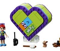 41358 LEGO® Friends Mias Herzbox:   Nimm Mia in ihrer Herzbox überall mit hin. Baue die herzförmige Box, lege LE