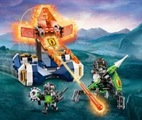 72001 LEGO® Nexo Knights Lances schwebender Cruiser*:   Mach dich auf ein spannendes Kräftemessen mit Cezar gefasst – und mit seinem