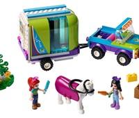41371 - LEGO® Friends - Mias Pferdetransporter:   Es ist Zeit, bei einem Ausritt etwas frische Waldluft zu schnuppern – mit de