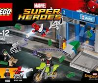 76082 LEGO® Marvel Super Heroes™ Action am Geldautomaten*:   Eile mit Spider-Man zu der Bank, die gerade von Ganoven ausgeraubt wird! Las