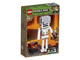 21150 LEGO® Minecraft™ Minecraft™-BigFig Skelett mit Magmawürfel:   Die dynamischen Minecraft™-Modelle sorgen für jede Menge Bau- und Spielspaß