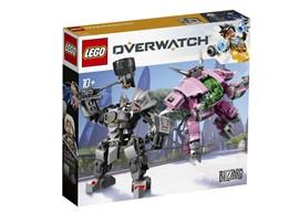 75973 - LEGO® Overwatch™ - D.Va & Reinhardt:   Echte Overwatch®-Fans werden vom Mech-Anzug und der mächtigen Rüstung im Set