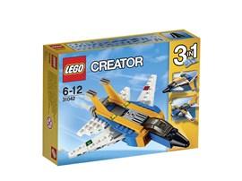 31042 LEGO® Creator Düsenjet:   Mit diesem Jet durchbrichst du die Schallmauer. Das Modell besitzt ein Farbm