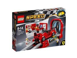 75882 LEGO® Speed Champions Ferrari FXX K & Entwicklungszentrum:   Arbeite mit den Fachleuten und Ingenieuren im Entwicklungszentrum zusammen.