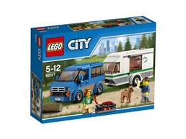 60117 LEGO® City Van & Wohnwagen:   Endlich Ferien! Lade den Grill und reichlich Lebensmittel ein – und vergiss