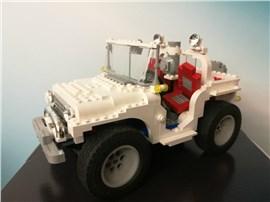Jeep:   Fertiges Lego Modell         Modell aus dem Jahr