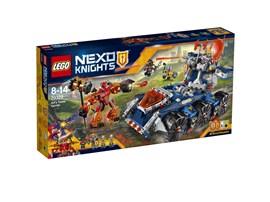 70322 LEGO® Nexo Knights Axls rollender Wachturm:   Nimm den Wachturm von Axls mobilem Verteidigungsturm ab, und lass ihn losrol