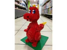 """Drache:   Fertiges Lego Modell von LEGO®    """"Drache in rot mit gelben Flügeln"""""""
