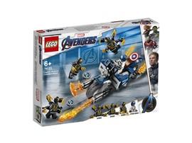 76123 - LEGO® Marvel Super Heroes™ - Captain America: Outrider-Attacke:   Stürze dich mit dem coolen Captain America Motorrad im LEGO® Marvel Avengers