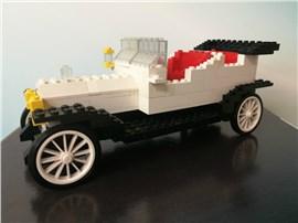 Rolls Royce:   Fertiges Lego Modell 1909 Rolly Royce               Modell aus