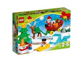 10837 LEGO® DUPLO® Winterspaß mit dem Weihnachtsmann*:   Mit diesem LEGO® DUPLO® Set erleben Kleinkinder echten Weihnachtszauber, wen