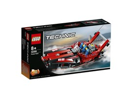 42089 LEGO® Technic Rennboot:   Entdecke die Welt der Superboot-Rennen mit diesem aerodynamischen 2-in-1 LEG