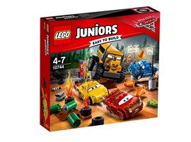10744 LEGO® Juniors Crazy 8 Rennen in Thunder Hollow*:   Rette Disney•Pixars Lightning McQueen und Cruz Ramirez vor Miss Fritter, die