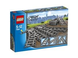 7895 LEGO® City Weichen:   Mit den zusätzlichen Weichen kannst du dein Zugsystem vergrößern. Es ist kei