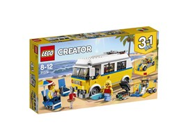 31079 LEGO® Creator Surfermobil:   Fahre mit dem coolen Surfermobil an den Strand. Lade das Surfbrett, den Sonn