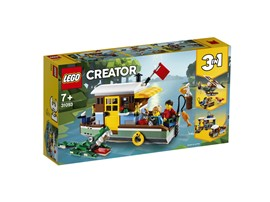 31093 LEGO® Creator Hausboot:   Komm an Bord des Hausboots und erlebe lustige Abenteuer! Dieses farbenfrohe