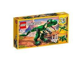 31058 LEGO® Creator Dinosaurier:   Mit diesem bedrohlichen T-Rex in den Farben Dunkelgrün und Beige und mit leu