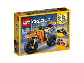 31059 LEGO® Creator Straßenrennmaschine:   Dreh eine Runde auf der coolen Straßenrennmaschine aus diesem 3-in-1-Set. Da