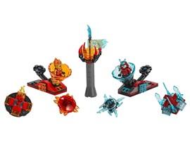70684 - LEGO® NINJAGO - Spinjitzu Slam – Kai vs. Eis-Samurai:   Wenn die Elemente aufeinandertreffen erwartet dich rasante Spinner-Action–