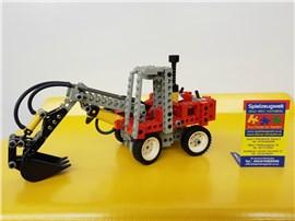 """Bagger klein:   Fertiges Lego Modell von LEGO®    """"Bagger klein, rot von Lego Technic"""""""