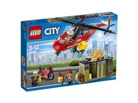 60108 LEGO® City Feuerwehr-Löscheinheit*:   Eile zum Einsatzort, an dem ein Arbeiter um Hilfe ruft! Rase auf deinem Moto