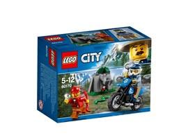 60170 LEGO® City Offroad-Verfolgungsjagd*:   Geh auf deinem Motocross-Motorrad mit der LEGO® City Bergpolizei auf Patroui