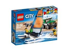 60149 LEGO® City Geländewagen mit Katamaran:   Schnapp dir deine Badesachen und fahr ans Wasser! Lade den Katamaran auf den