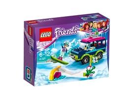 41321 LEGO® Friends Geländewagen im Wintersportort:   Leg dein Snowboard auf den Dachgepäckträger, setz dich in den Geländewagen u