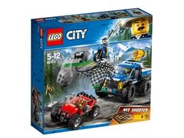 60172 LEGO® City Verfolgungsjagd auf Schotterpisten:   Jage den Räuber mit dem Polizei-Quad durch die Berge! Aber Vorsicht vor Stei