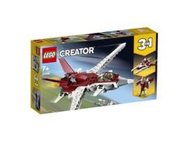 31086 LEGO® Creator Flugzeug der Zukunft:   Reise in die Zukunft der Luftfahrt – mit dem Flugzeug der Zukunft. Das dunke